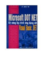 Microsoft Dot Net kỹ năng lập trình ứng dụng với Visual Basic .NET pptx
