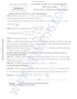 ĐỀ THI THỬ ĐẠI HỌC LẦN I NĂM 2013 môn toán khối A TRƯỜNG THPT CHUYÊN VĨNH PHÚC pdf
