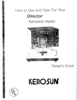 HOW TO USE AND CARE FOR YOUR DIRECTOR KEROSENE HEATER pdf