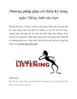 Phương pháp giúp cải thiện kỹ năng nghe Tiếng Anh của bạn pptx