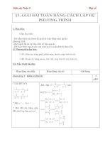 giáo án môn toán lớp 9 - chương 3, bài 5 giải bài toán bằng cách lập hệ phương trình