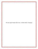 Di sản nghệ thuật kiến trúc và điêu khắc Champa docx