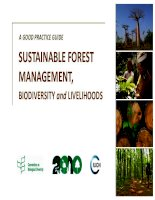 A GOOD PRACTICE GUIDE SUSTAINABLE FOREST MANAGEMENT, BIODIVERSITY AND LIVELIHOODS ppt