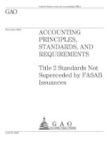 ACCOUNTING PRINCIPLES, STANDARDS, AND REQUIREMENTS - Title 2 Standards Not Superceded by FASAB Issuances doc