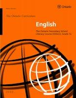 English - The Ontario Secondary School Literacy Course (OSSLC), Grade 12 pot