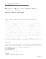 Reflection and reflective practice in health professions education: a systematic review pot