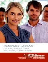 Postgraduate Studies 2013 Graduate Certificate courses and Distance Education subjects pot