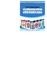 giá trị dinh dưỡng và phương pháp chế biến sữa