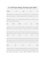 Cơ thể bạn đang cần loại quả nào? pdf