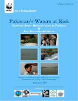 PAKISTAN''''S WATERS AT RISK: WATER & HEALTH RELATED ISSUES IN PAKISTAN & KEY RECOMMENDATIONS potx