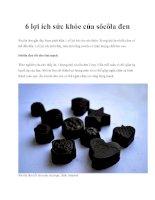 6 lợi ích sức khỏe của sôcôla đen docx