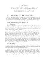 CHƯƠNG I DẤU ẤN CỦA TRIẾT HỌC HY LẠP CỔ ĐẠI TRONG TRIẾT HỌC ARISTOTLE