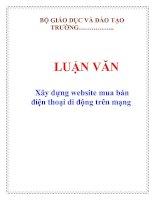 LUẬN VĂN: Xây dựng website mua bán điện thoại di động trên mạng pdf