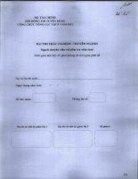 Đề thi công chức năm 2012 chuyên ngành chuyên viên và kiểm tra thuế: Đề lẻ ppt