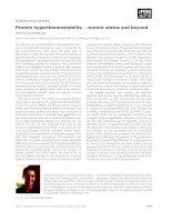 Báo cáo khoa học: Protein hyperthermostability – current status and beyond Sotirios Koutsopoulos pdf