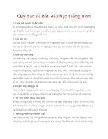 Quy tắc để bắt đầu học tiếng anh pdf
