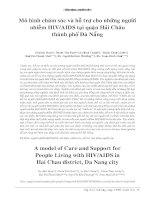 Mô hình chăm sóc và hỗ trợ cho những người nhiễm HIV/AIDS tại quận Hải Châu thành phố Đà Nẵng potx