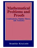 math. problems and proofs combinatorics, number theory and geometry - b. kisacanin