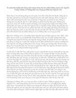 So sánh chủ nghĩa anh hùng cách mạng trong hai tác phẩm Rừng xà nu của Nguyễn Trung Thành và Những đứa con trong gia đình của Nguyễn Thi pdf