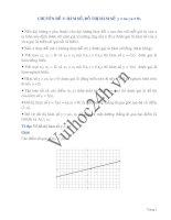 Hàm số, đồ thị hàm số - Toán đại số lớp 7 ppt