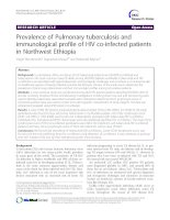 Prevalence of Pulmonary tuberculosis and immunological profile of HIV co-infected patients in Northwest Ethiopia pdf