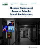CHEMICAL MANAGEMENT RESOURCE GUIDE FOR SCHOOL ADMINISTRATORS doc