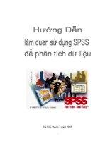 Hướng dẫn làm quen với SPSS để phân tích dữ liệu potx