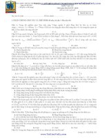 ĐỀ KHẢO SÁT CHẤT LƯỢNG LUYỆN THI ĐẠI HỌC Ngày 06 /01/2013 MÔN VẬT LÝ - TRƯỜNG THPT THUẬN THÀNH pptx
