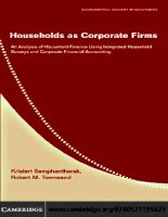 Households as Corporate Firms An Analysis of Household Finance Using Integrated Household Surveys and Corporate Financial Accounting pptx