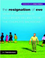 The Resignation of Eve by Jim Henderson doc