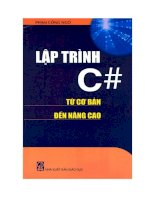 Lập trình C # từ cơ bản đến nâng cao docx