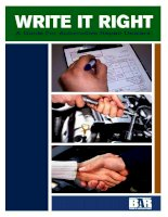 WRITE IT RIGHT A GUIDE FOR AUTOMOTIVE REPAIR DEALERS doc