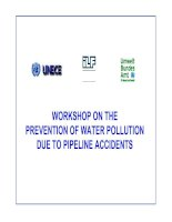 WORKSHOP ON THE PREVENTION OF WATER POLLUTION DUE TO PIPELINE ACCIDENTS pot