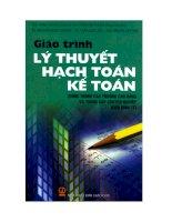 Giáo trình lý thuyết hạch toán kế toán  pptx