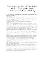 ÔN THI ĐỊA LÝ 12 - VẤN ĐỀ KHAI THÁC LÃNH THỔ THEO CHIỀU SÂU Ở ĐÔNG NAM BỘ pot