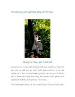 Tìm hiểu phong cách nghệ thuật nhiếp ảnh Việt Nam pot
