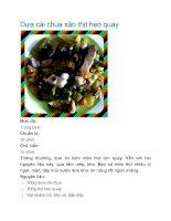 Dưa cải chua xào thịt heo quay pdf