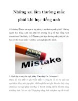 Những sai lầm thường mắc phải khi học tiếng anh potx
