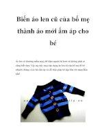 Biến áo len cũ của bố mẹ thành áo mới ấm áp cho bé doc