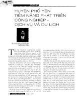 Báo cáo khoa học :Huyện Phổ Yên tiềm năng phát triển công nghiệp dịch vụ và du lịch pptx