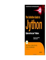 The Definitive Guide to Jython doc