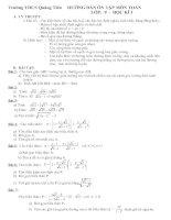 Đề cương ôn tập môn toán lớp 9 học kì I (có đáp án kèm theo)
