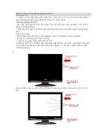 Panel LCD các hư hỏng thường gặp và cách xử lý
