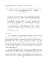 NGHIÊN CỨU CÁC YẾU TỐ ẢNH HƯỞNG ĐẾN CHẤT LƯỢNG DỊCH VỤ INTERNET CỦA CÔNG TY VIỄN THÔNG THỪA THIÊN HUẾ pdf