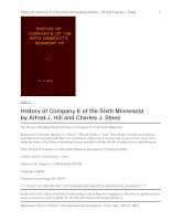 History of Company E of the Sixth Minnesota Regiment of Volunteer Infantry docx