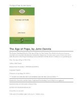 The Age of Pope (1700-1744) ppt