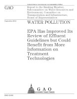 EPA Has Improved Its Review of Effluent Guidelines but Could Benefit from More Information on Treatment Technologies doc