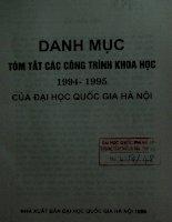 Danh mục các công trình nghiên cứu khoa học 1994-1995 của đại học Quốc gia Hà Nội docx