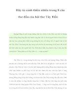 Hãy tả cảnh thiên nhiên trong 8 câu thơ đầu của bài thơ Tây Tiến pot