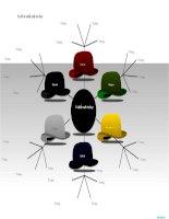 mẫu sơ đồ 6 chiếc mũ tư duy dành cho powerpoint